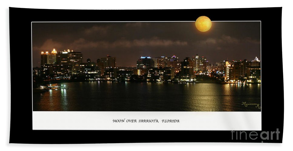 Moonrise Hand Towel featuring the photograph Nocturne by Mariarosa Rockefeller