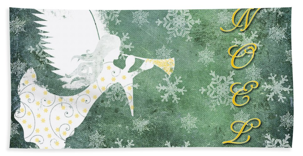 Christmas Bath Sheet featuring the photograph Noel Christmas Card by Debbie Portwood