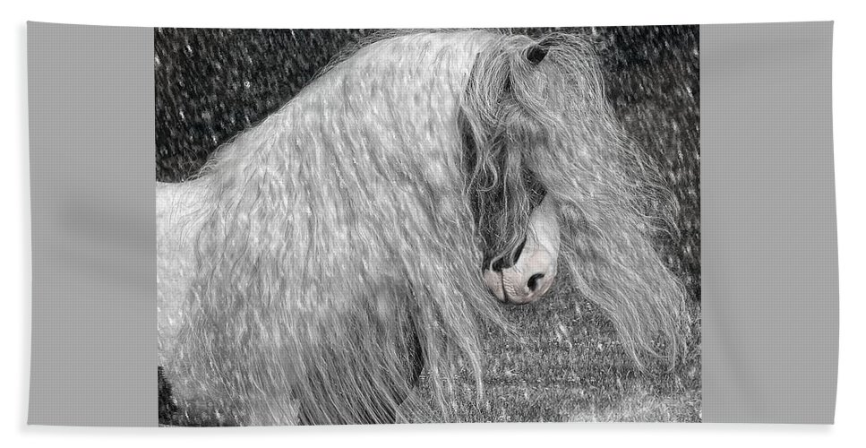 Gypsy Horses Bath Sheet featuring the digital art Nor Easter by Fran J Scott