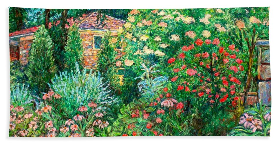 Garden Bath Sheet featuring the painting North Albemarle In Mclean Va by Kendall Kessler
