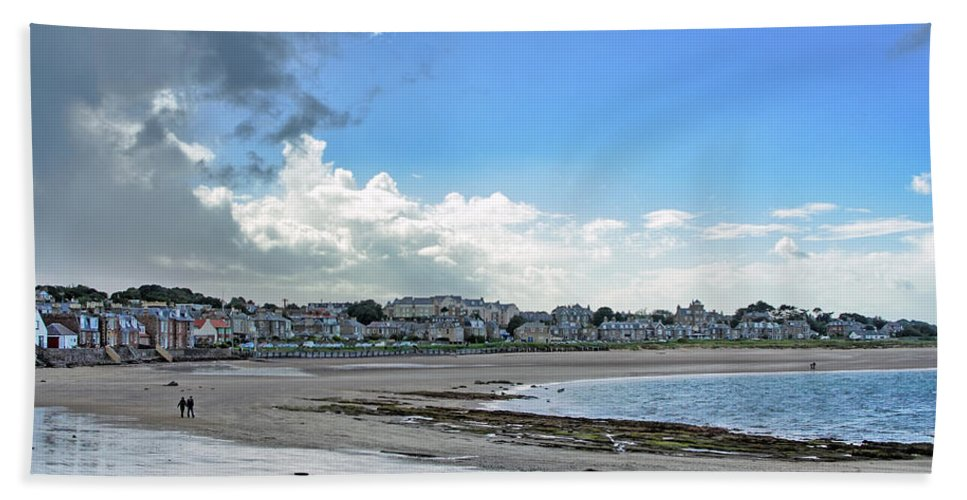 North Bath Sheet featuring the photograph North Berwick Scotland by Jason Politte