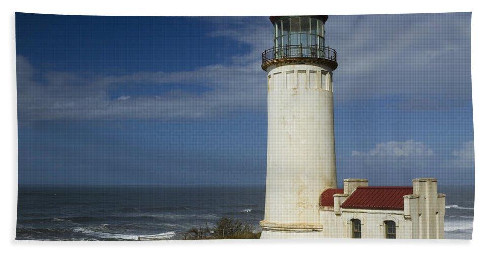 Sea Bath Sheet featuring the photograph North Head Lighthouse 1 D by John Brueske