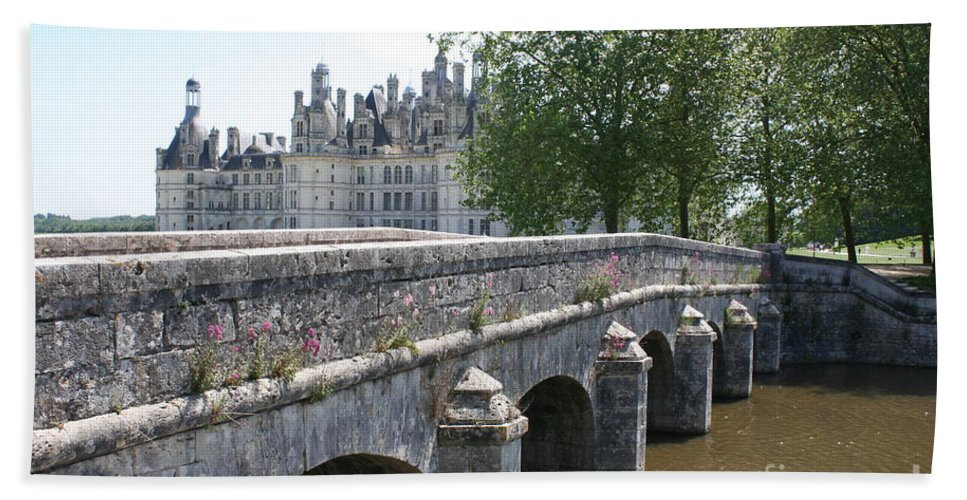 Palace Bath Sheet featuring the photograph Northwest Facade Of The Chateau De Chambord by Christiane Schulze Art And Photography