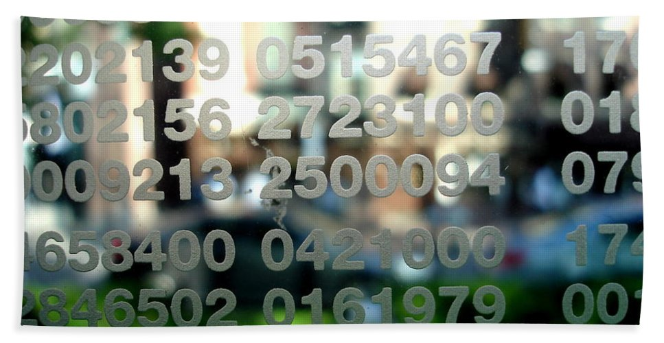 Numbers Bath Sheet featuring the photograph Not Just Numbers by Kerri Mortenson