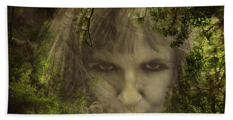 Woman Hand Towel featuring the photograph Not Nice To Fool Mother Nature by Donna Blackhall