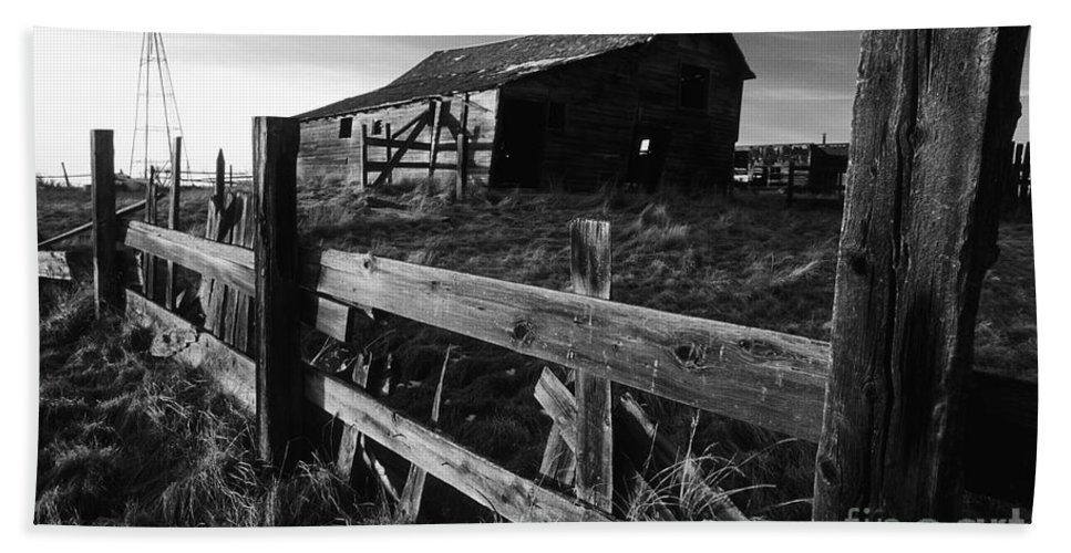 Deserted Hand Towel featuring the photograph Not Ok Corral by Bob Christopher
