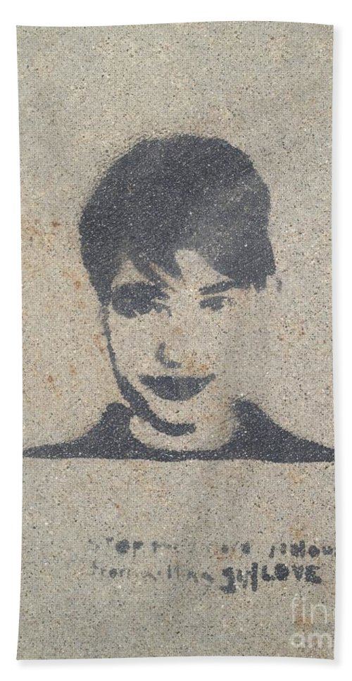 Graffiti Hand Towel featuring the photograph Not Sure by Joseph Yarbrough