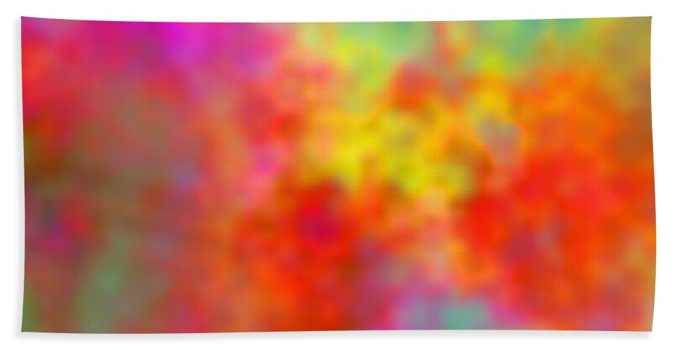 Digital Clouds Bath Sheet featuring the digital art November Smile by Christy Leigh
