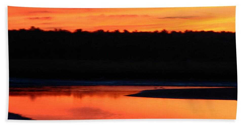 Beautiful Hand Towel featuring the photograph November Sunset by Denyse Duhaime