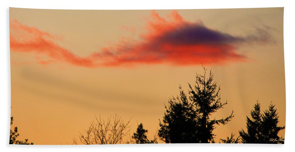 November Sunset Hand Towel featuring the photograph November Sunset IIi by Jeanette C Landstrom