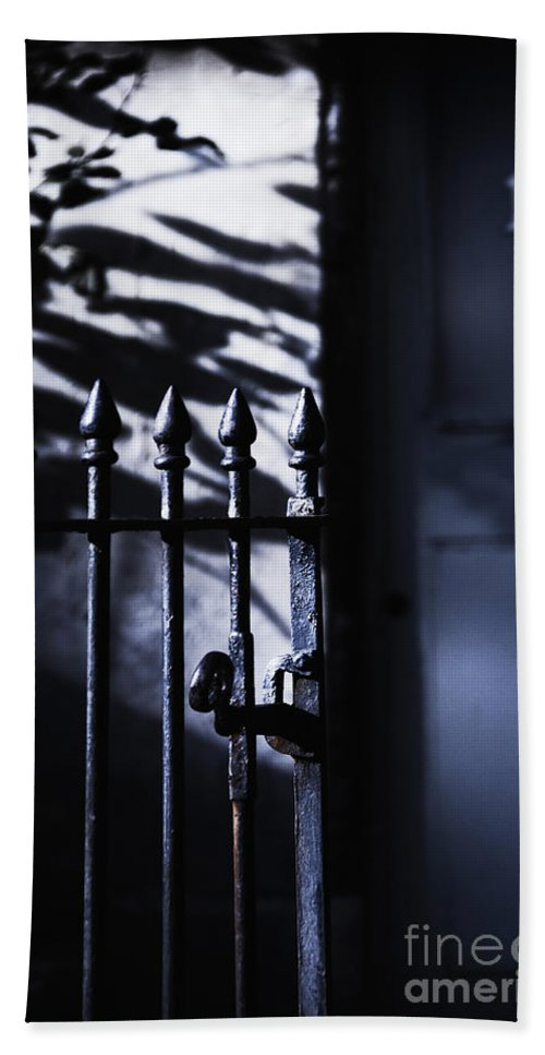 Fence Hand Towel featuring the photograph Number 13 by Margie Hurwich