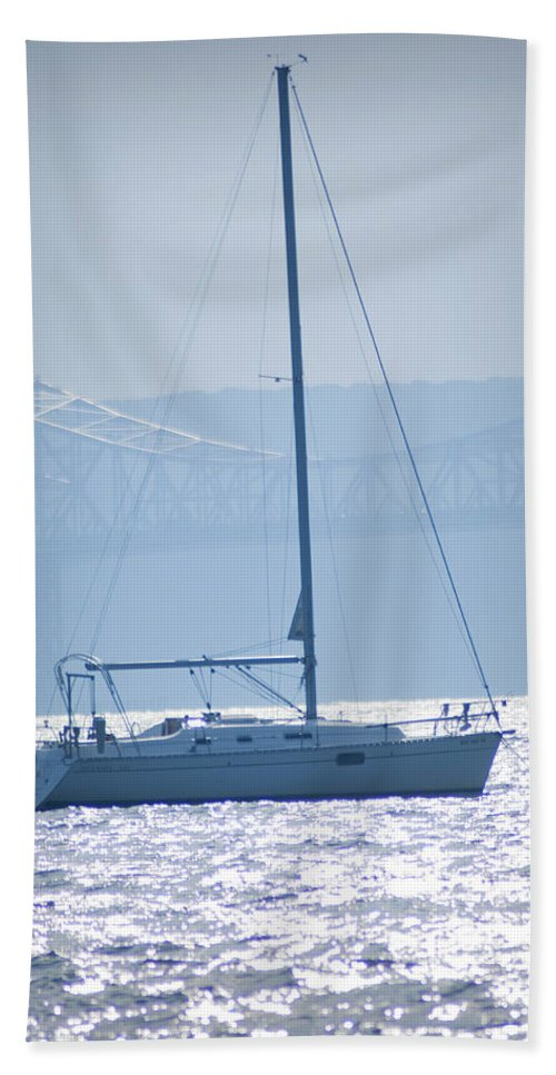 Nyack Hand Towel featuring the photograph Nyack New York - Sailboat by Bill Cannon