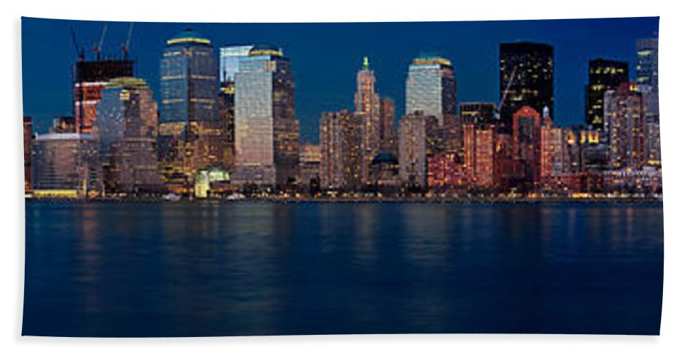 Architect Bath Sheet featuring the photograph Nyc Pano by Jerry Fornarotto