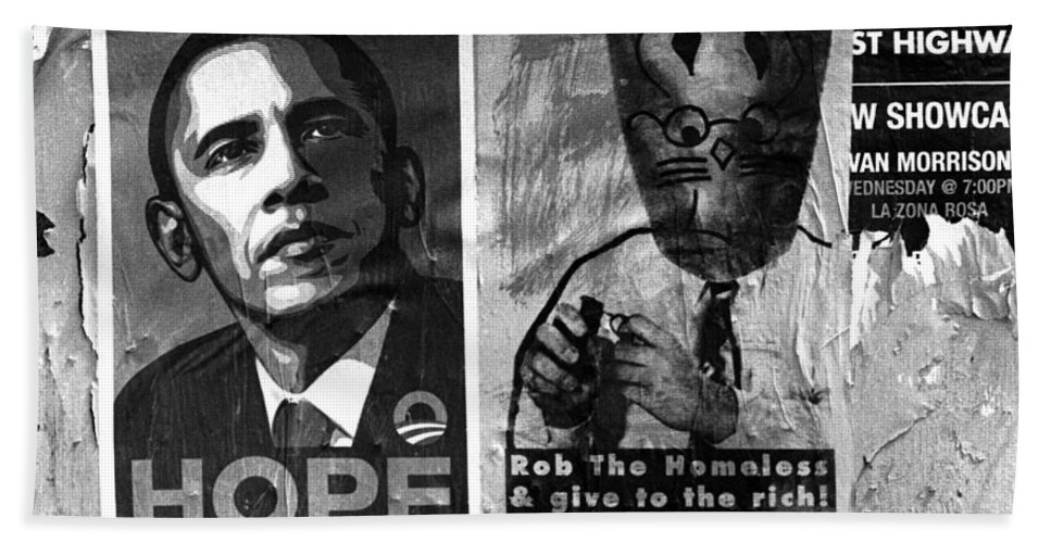 Posters Bath Sheet featuring the photograph Obama Election Poster by Jim Smith