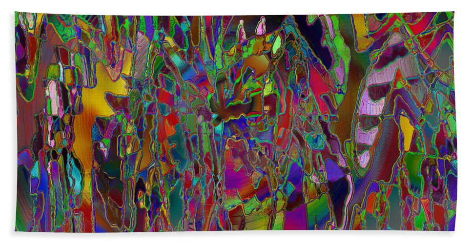 Abstract Hand Towel featuring the digital art Ocd Nightmares by Diane Parnell