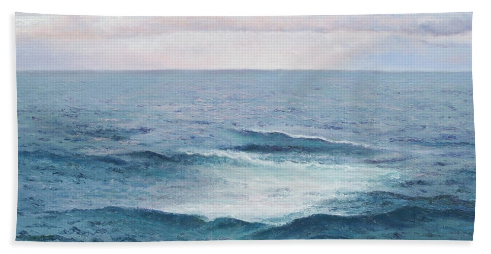 Ocean Hand Towel featuring the painting Ocean By Jan Matson by Jan Matson