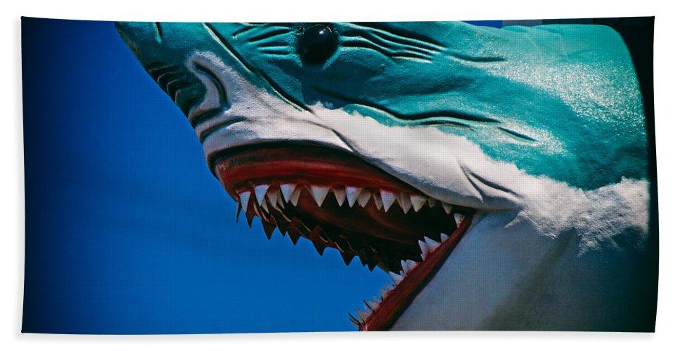 Ocean City Shark Attack Bath Sheet featuring the photograph Ocean City Shark Attack by Bill Swartwout Fine Art Photography