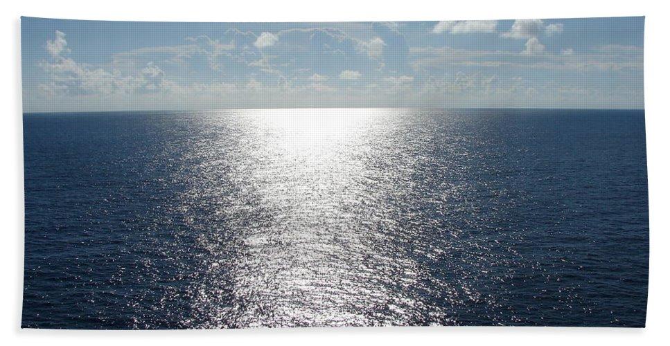 Ocean Hand Towel featuring the photograph Ocean Horizon by Leara Nicole Morris-Clark