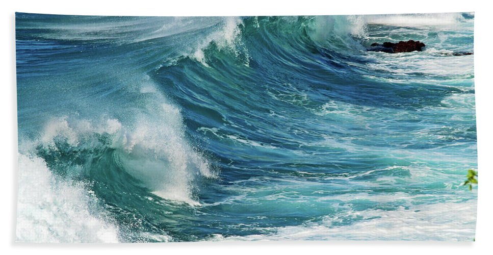 Ocean Photography Bath Sheet featuring the photograph Ocean Majesty by Patricia Griffin Brett