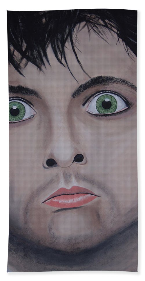 Rockumentory Bath Towel featuring the painting Ode To Billie Joe by Dean Stephens