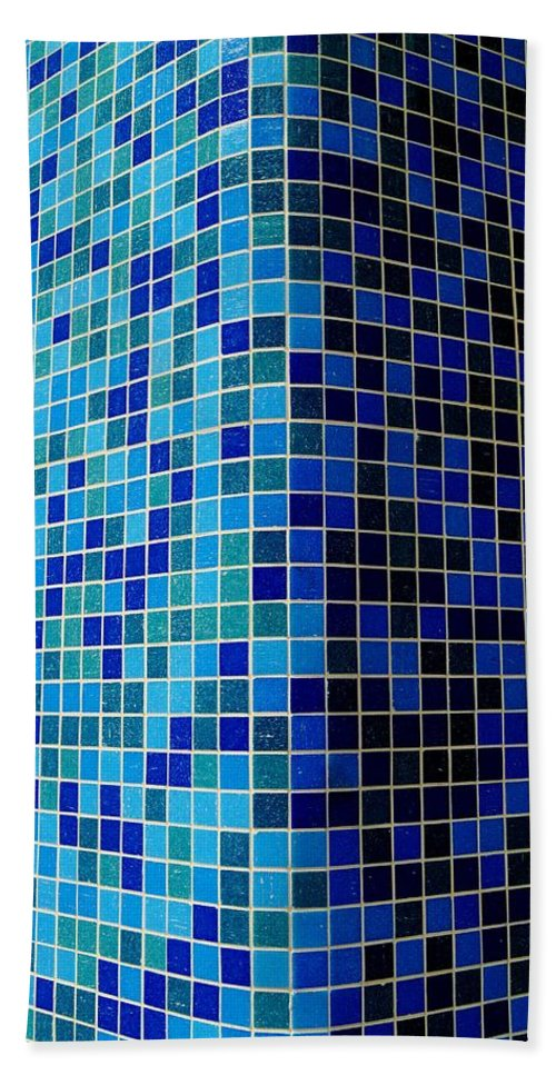 Tile Hand Towel featuring the photograph Ode To Steve S.  Corner In Blue by Daniel Thompson