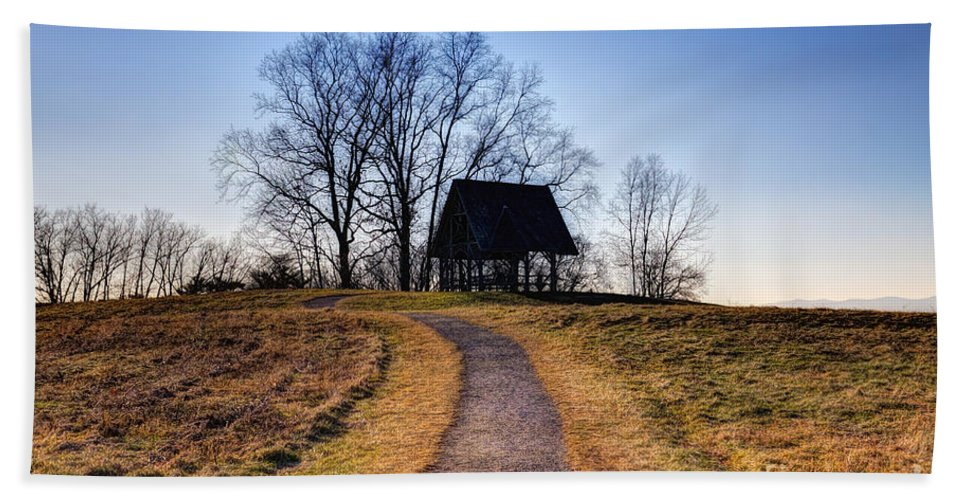 Path Hand Towel featuring the photograph Off The Beaten Path by Rick Kuperberg Sr