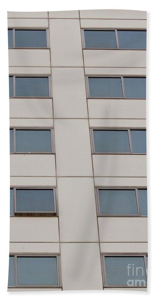 Downtown Bath Sheet featuring the photograph Office Building Windows by Henrik Lehnerer