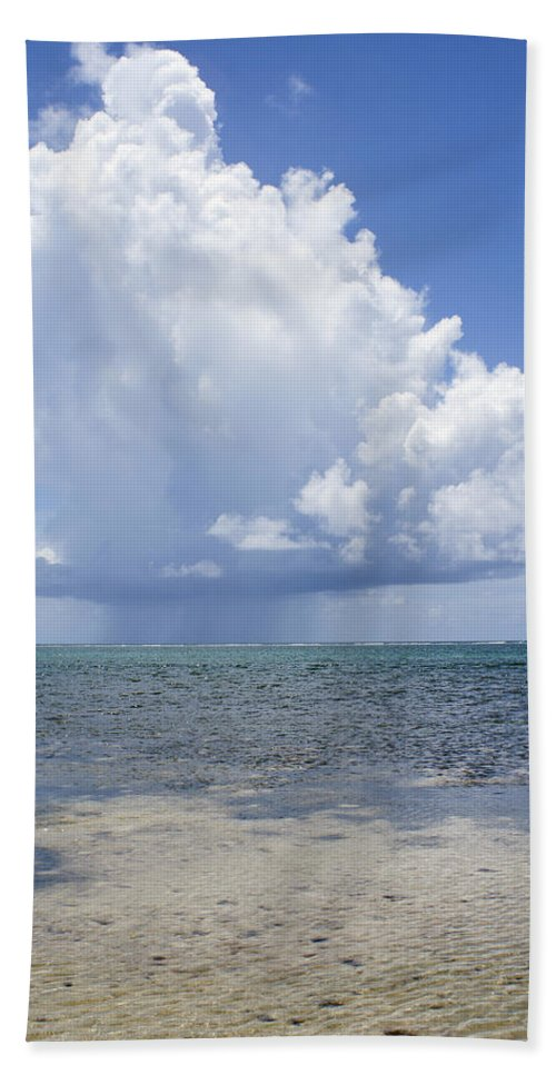 Storm Hand Towel featuring the photograph Offshore Storm by Debby Richards