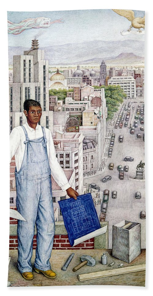1949 Hand Towel featuring the photograph Ogorman: City Of Mexico by Granger