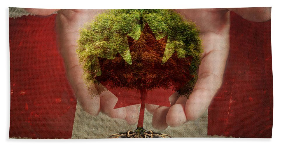 Oh Canada Bath Sheet featuring the photograph Oh Canada by Terry Fleckney