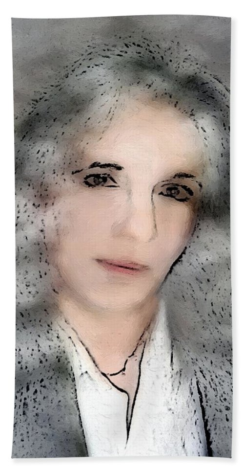 Woman Bath Sheet featuring the painting Oh - It's You by RC DeWinter