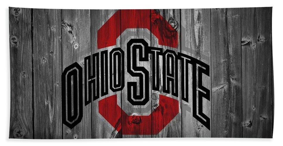 Ohio State University Bath Towel featuring the digital art Ohio State University by Dan Sproul