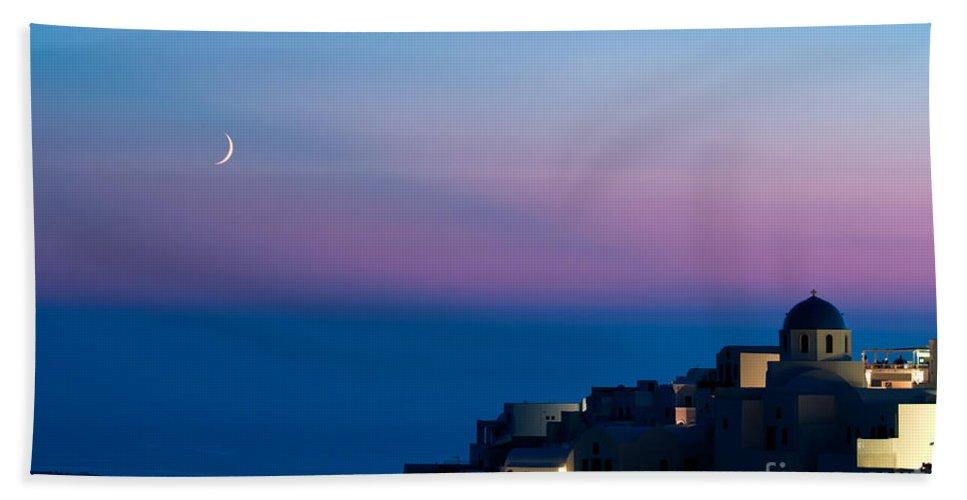 Aegean Bath Sheet featuring the photograph Oia Of Santorini by Kim Pin Tan
