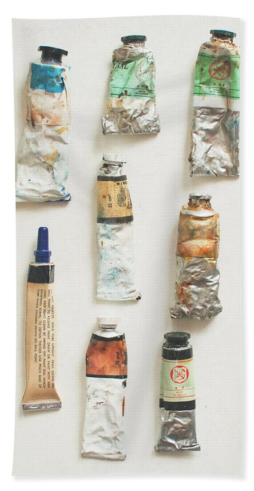Oil Paints Hand Towel featuring the photograph Oils by Cassia Beck