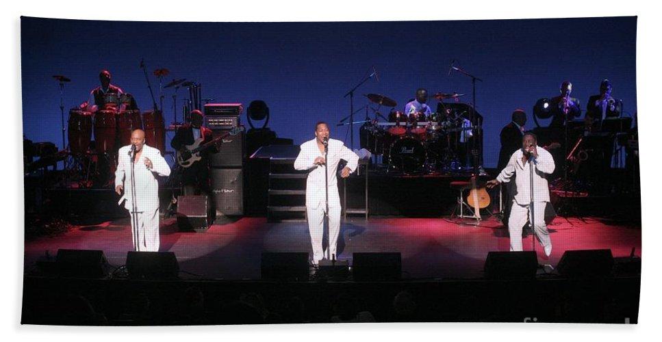 The O'jays Bath Sheet featuring the photograph O'jays by Concert Photos