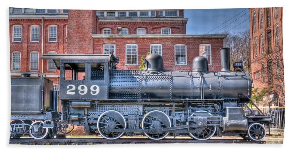 Train Hand Towel featuring the photograph Old 299 by Anthony Sacco