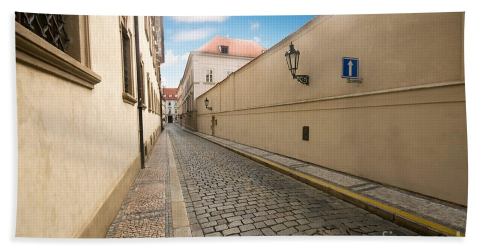 Old Bath Sheet featuring the photograph Old Architecture In Prague by Michal Bednarek