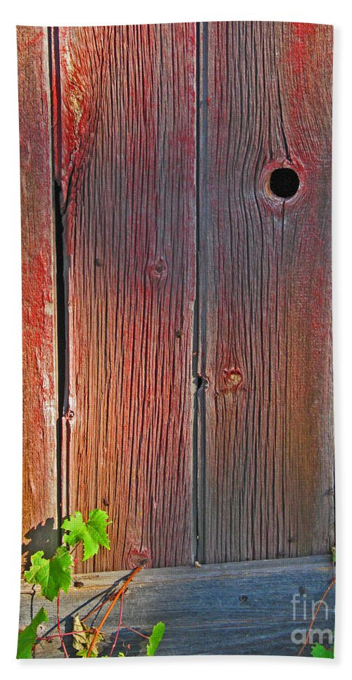 Barn Hand Towel featuring the photograph Old Barn Wood by Ann Horn