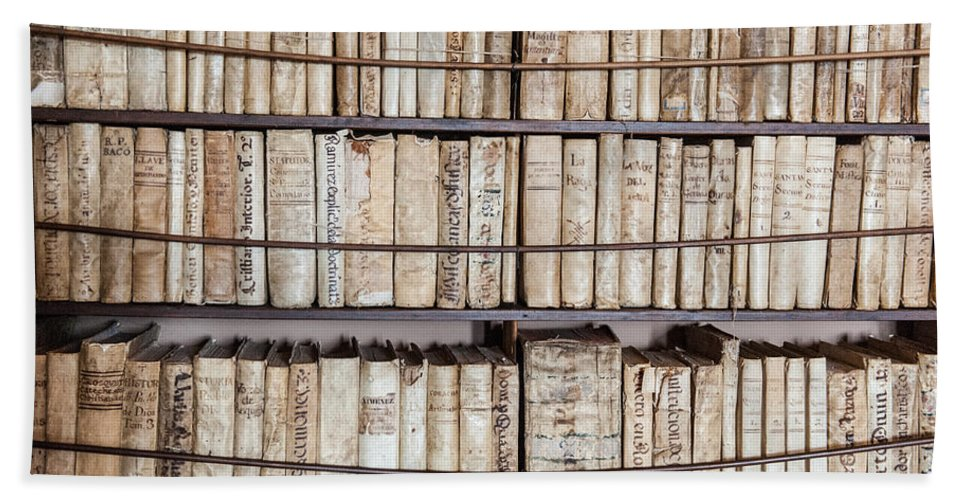 Ancient Tomes Bath Sheet featuring the photograph Old Books by Gary Eason