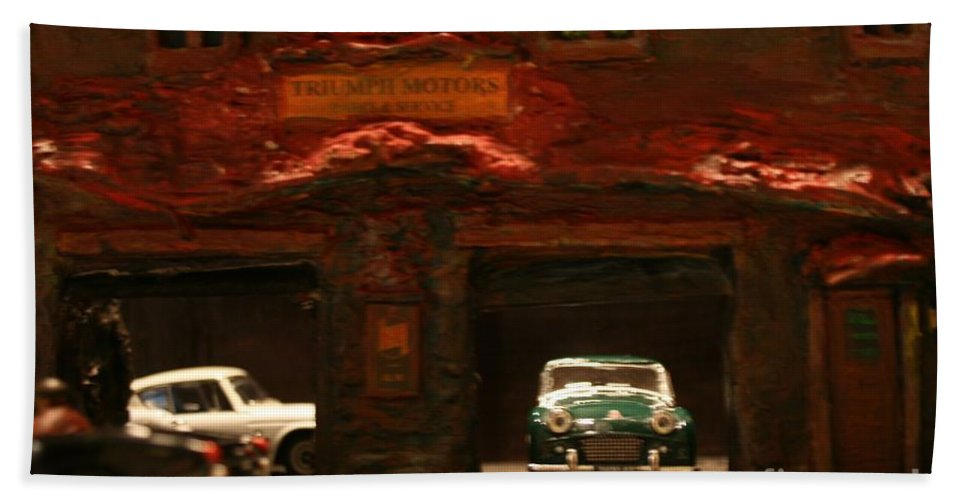 Classic Cars Hand Towel featuring the photograph Old Brooklyn Garage by William Bezik
