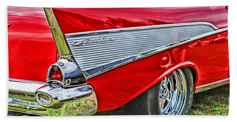 Cars Hand Towel featuring the photograph Old Chevy by Randy Harris
