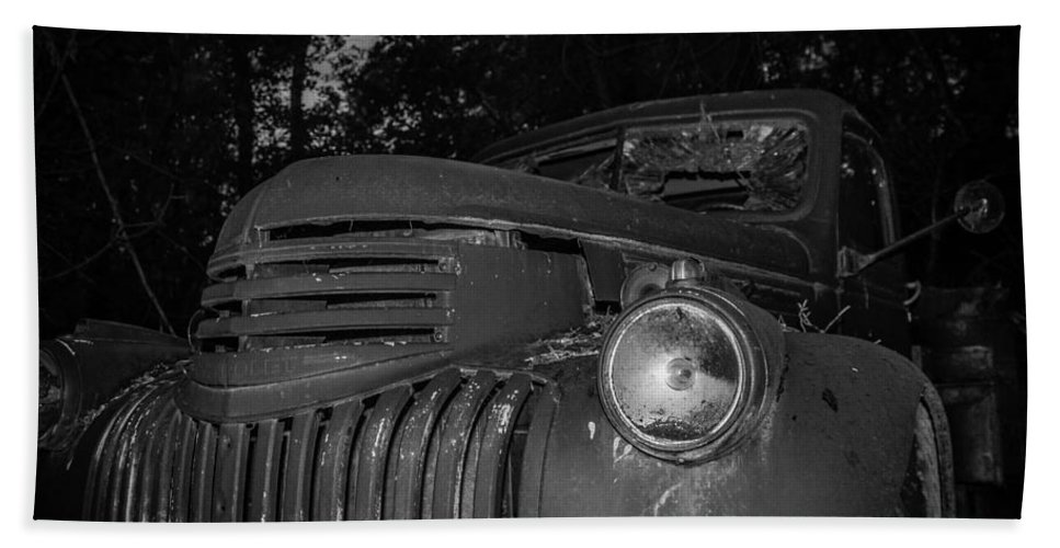 Chevy Hand Towel featuring the photograph Old Chevy Truck 2 by Chad Rowe