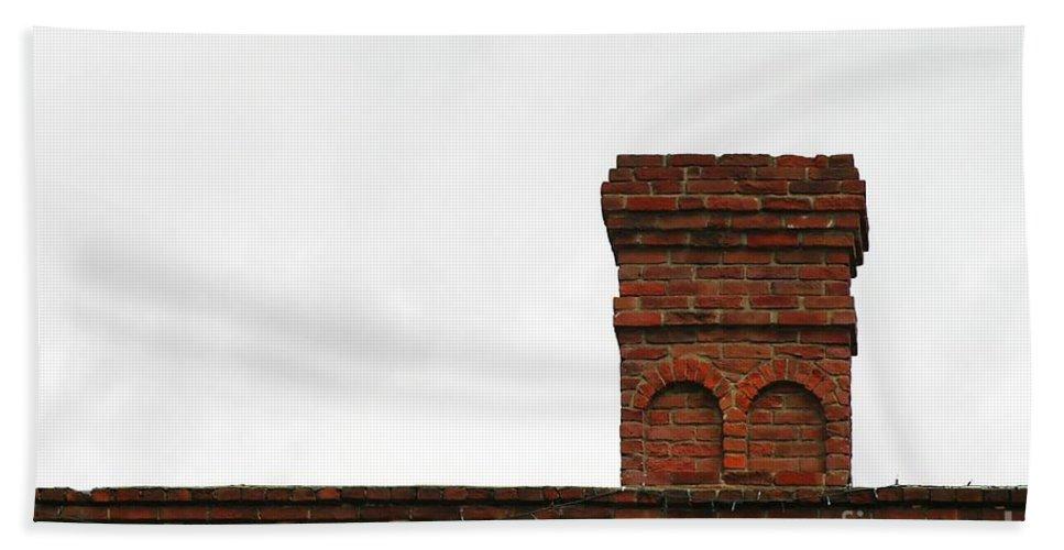 Old Bath Sheet featuring the photograph Old Chimney by Henrik Lehnerer
