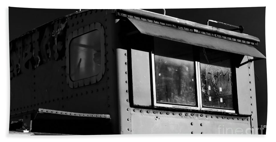 Digital Black And White Photo Hand Towel featuring the digital art Old Copula Bw by Tim Richards