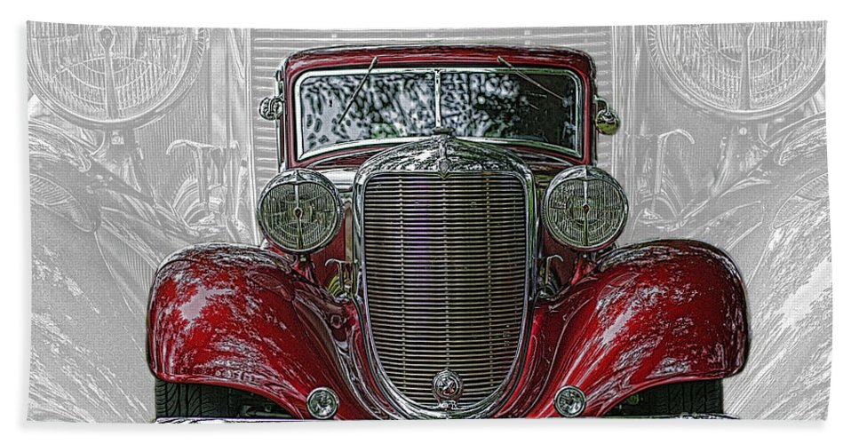 Cars Hand Towel featuring the photograph Old Desoto by Randy Harris