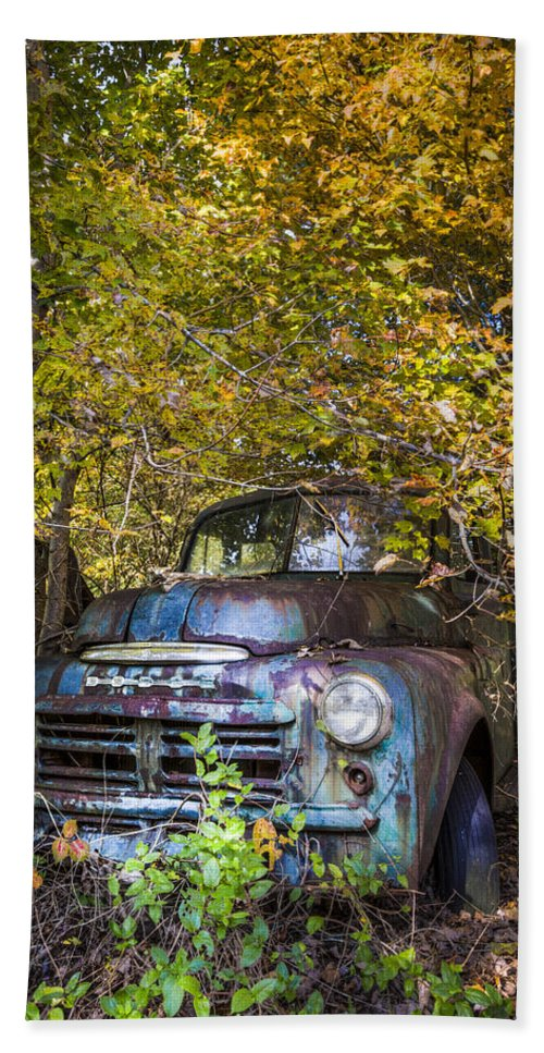 1940s Hand Towel featuring the photograph Old Dodge by Debra and Dave Vanderlaan