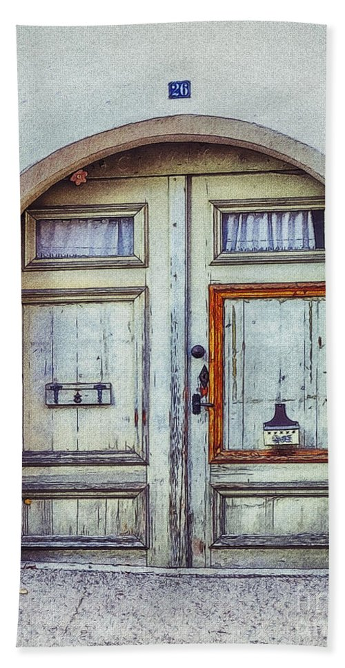 Photo Hand Towel featuring the photograph Old Door by Jutta Maria Pusl
