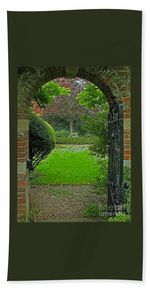 England Hand Towel featuring the photograph Old English Garden by Ann Horn