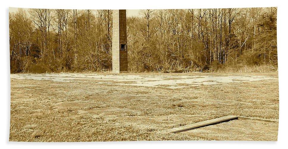 Smoke Bath Sheet featuring the photograph Old Faithful Smoke Stack by Chris W Photography AKA Christian Wilson