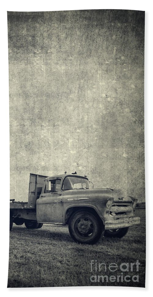 Truck Bath Sheet featuring the photograph Old Farm Truck Cover by Edward Fielding